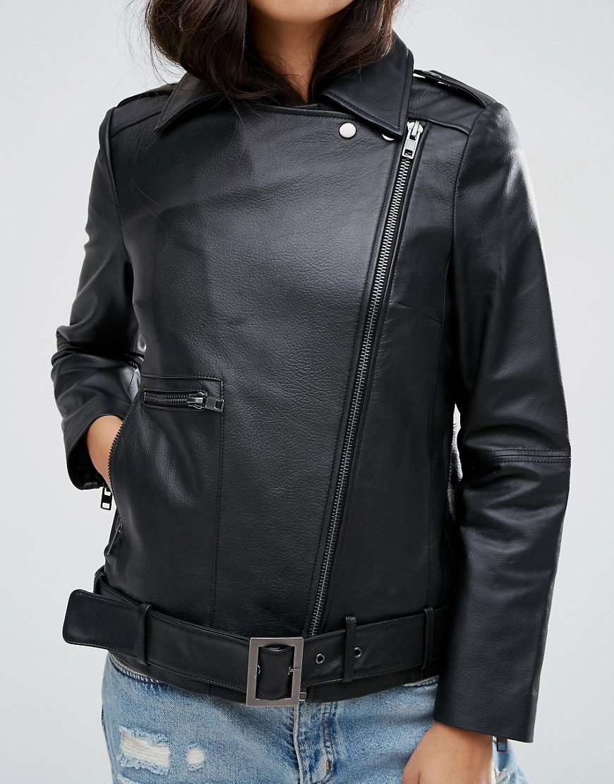 asos mens leather jacket review
