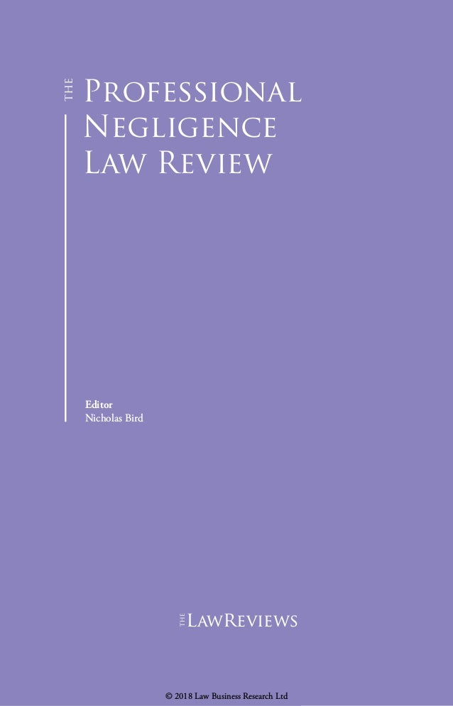 review of the law of negligence