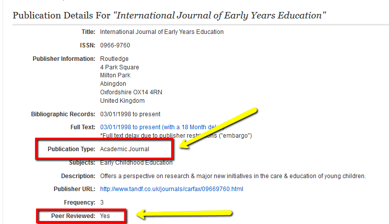 how to tell if peer reviewed journal