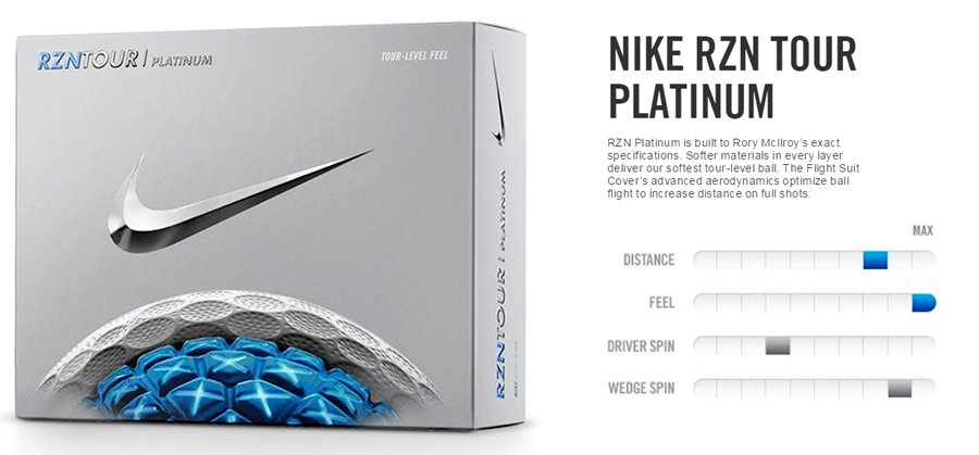 nike rzn platinum golf balls review