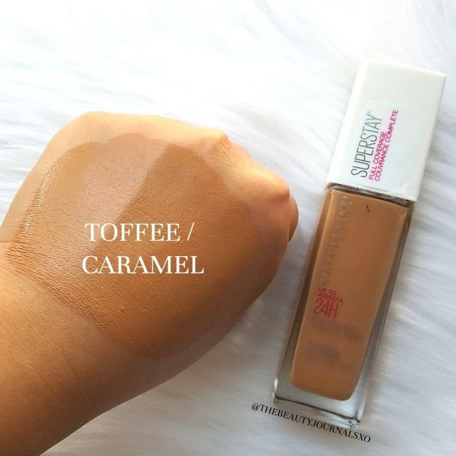 maybelline fit me foundation toffee caramel review