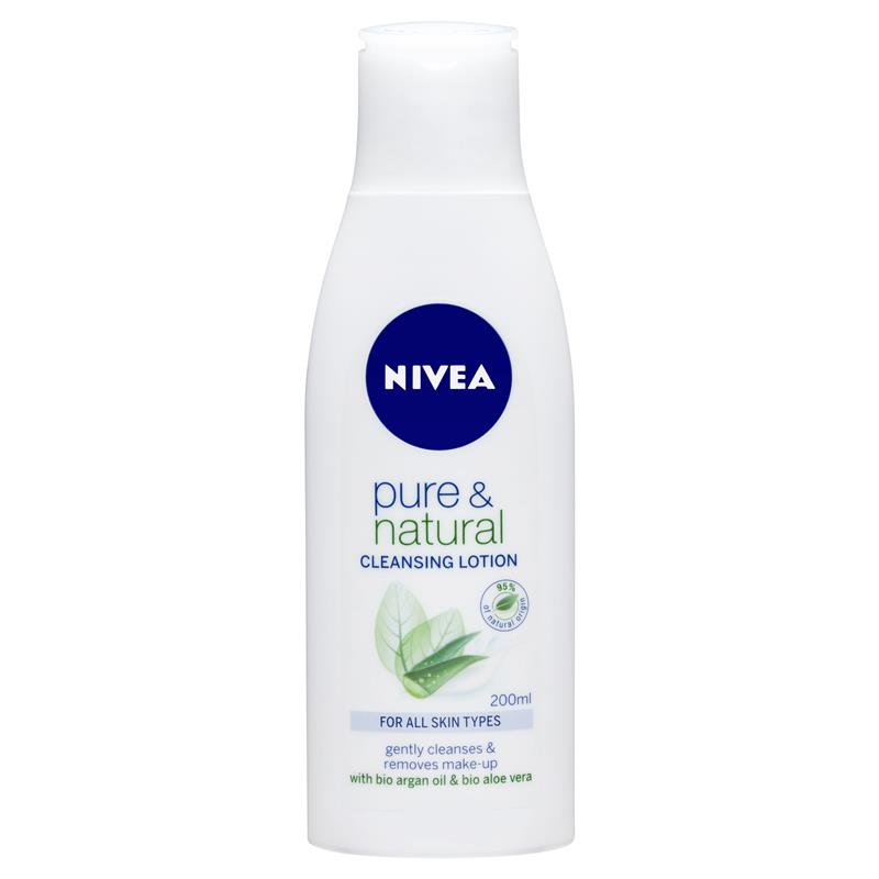 nivea pure and natural cleansing lotion review